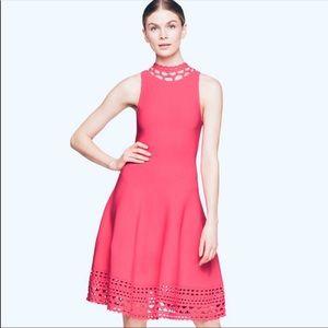 Milly Laser Cut Knit Swing Dress